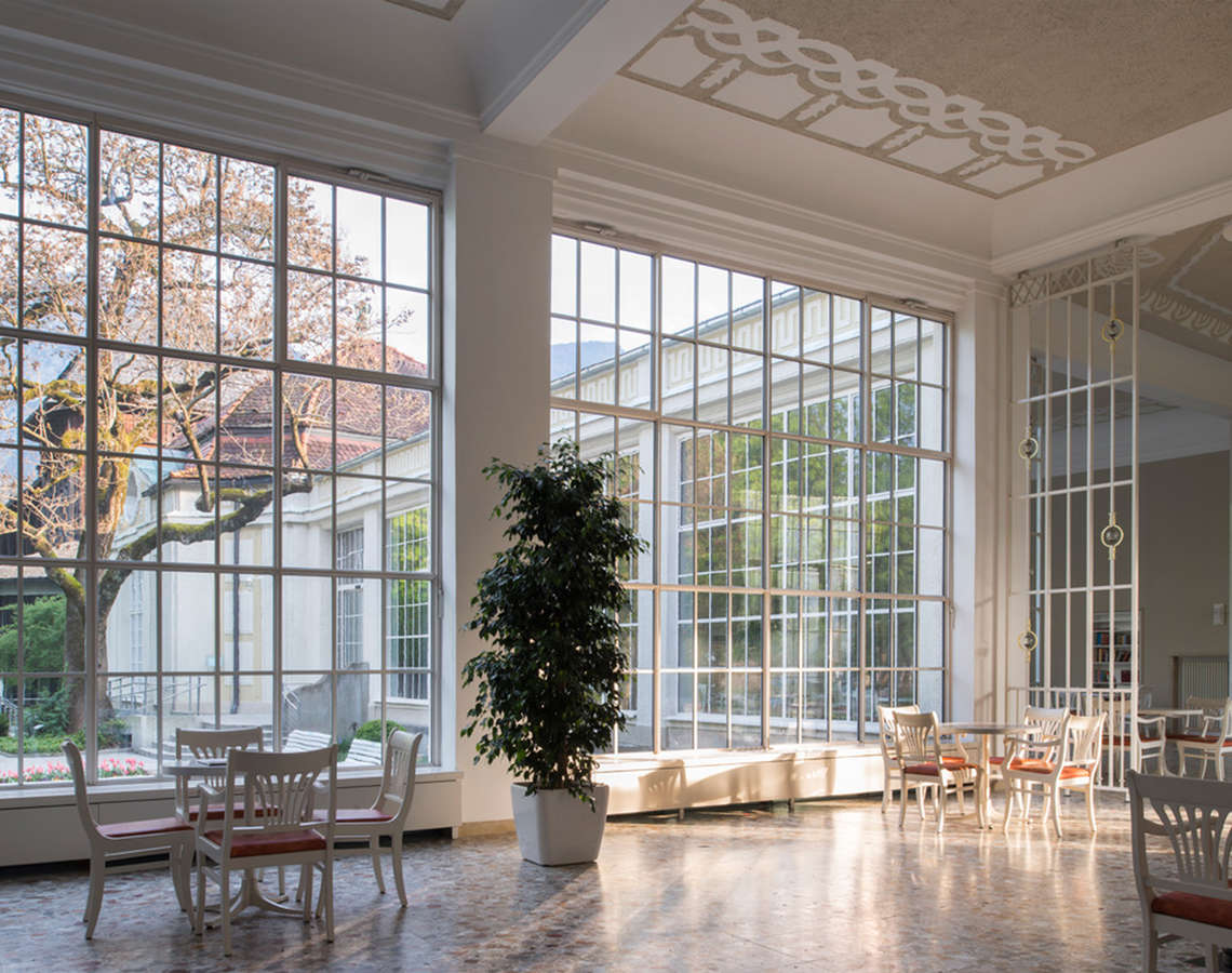 Lobby With A View Of The Royal Spa Garden